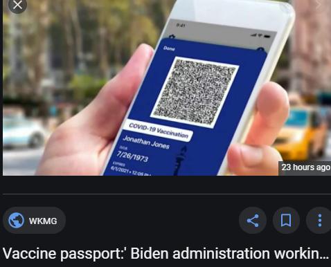 Biden Administration Working on 'Vaccine Passport' Initiative